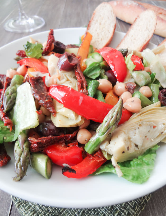 Antipasto Salad Close