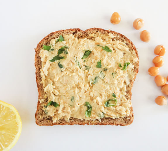 Mashed Chickpea Toast Recipe