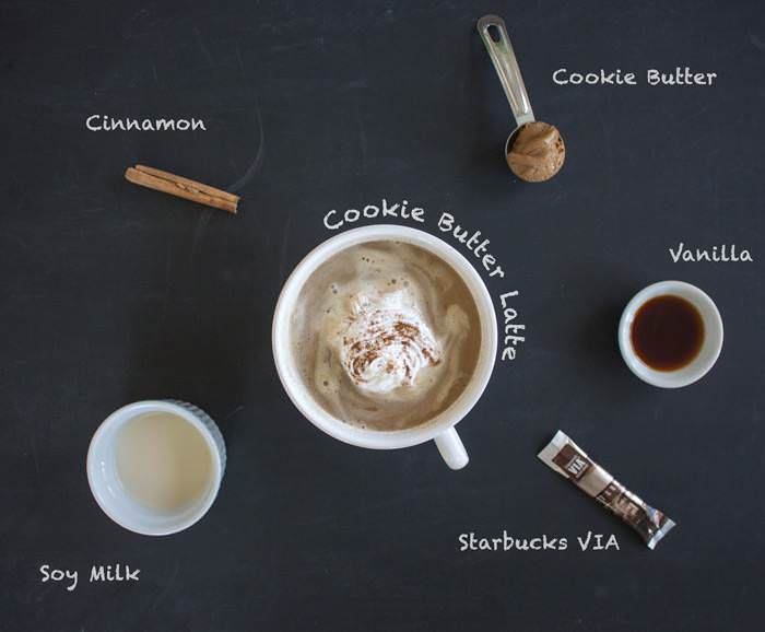 Cookie Butter Latte Ingredients