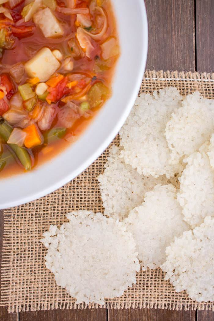 Rice Crackers Soup