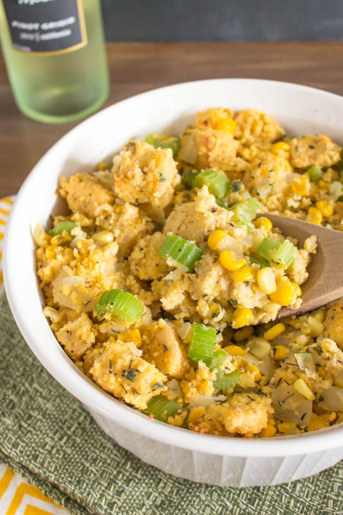 Sweet & Savory Cornbread Stuffing | One Ingredient Chef