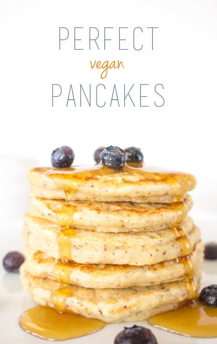Vegan pancake recipe one ingredient chef fluffy and just a little tart from the buttermilk we add if youve ever struggled with pancakes definitely give this recipe tutorial a shot ccuart Choice Image