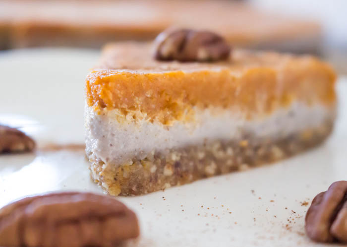 Vegan Pumpkin Pie Cheesecake Recipe | One Ingredient Chef