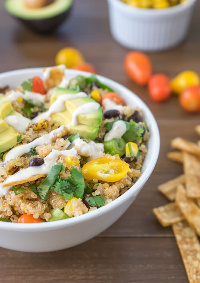 Quinoa Taco Salad Recipe | One Ingredient Chef