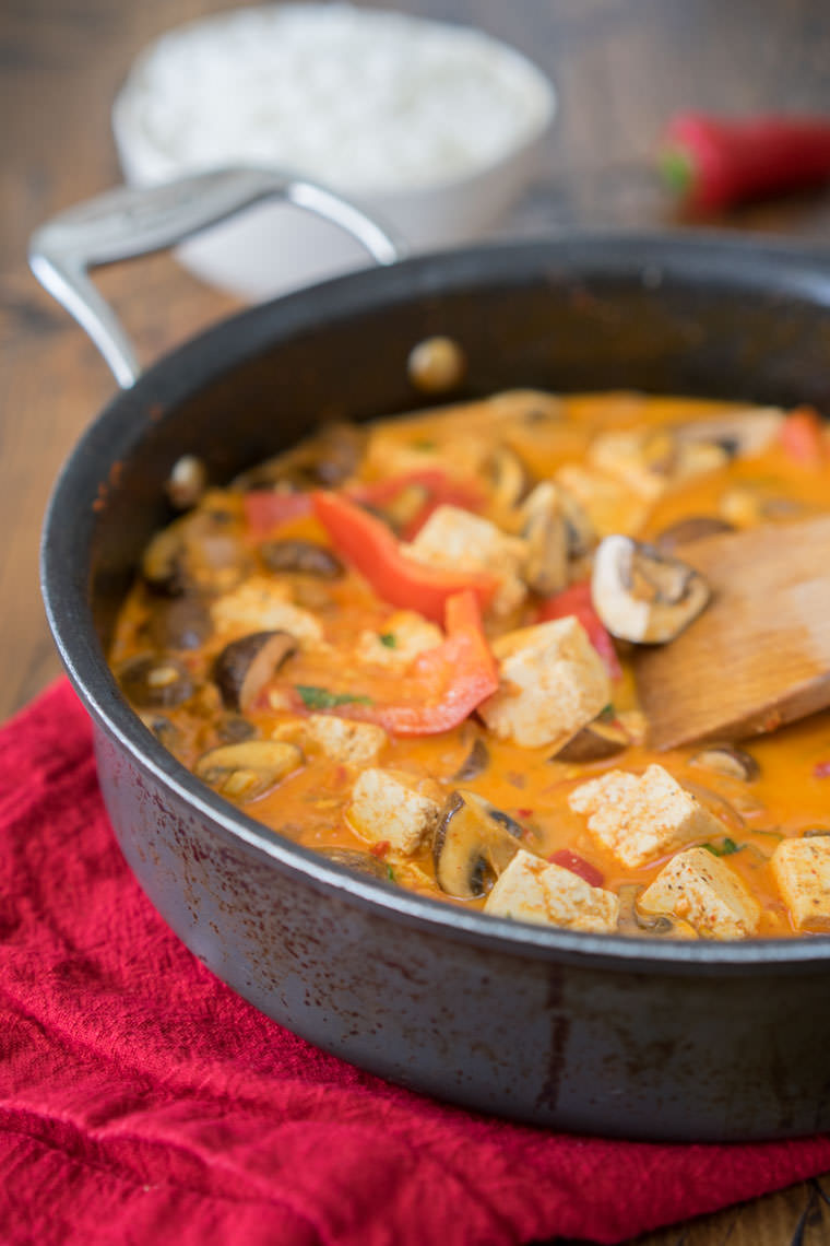 Classic Thai Red Curry with Tofu and Mushrooms | One Ingredient Chef