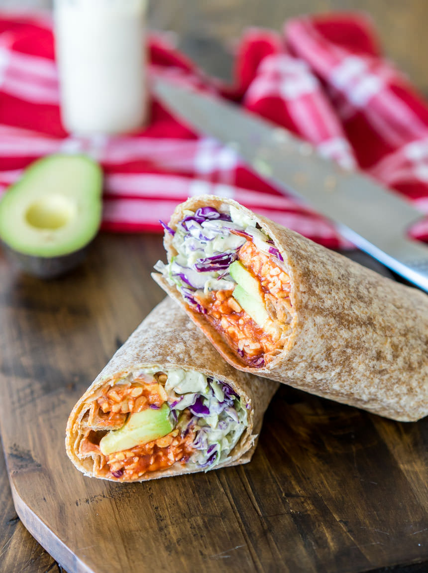 The Buffalo Tempeh Ranch Wrap
