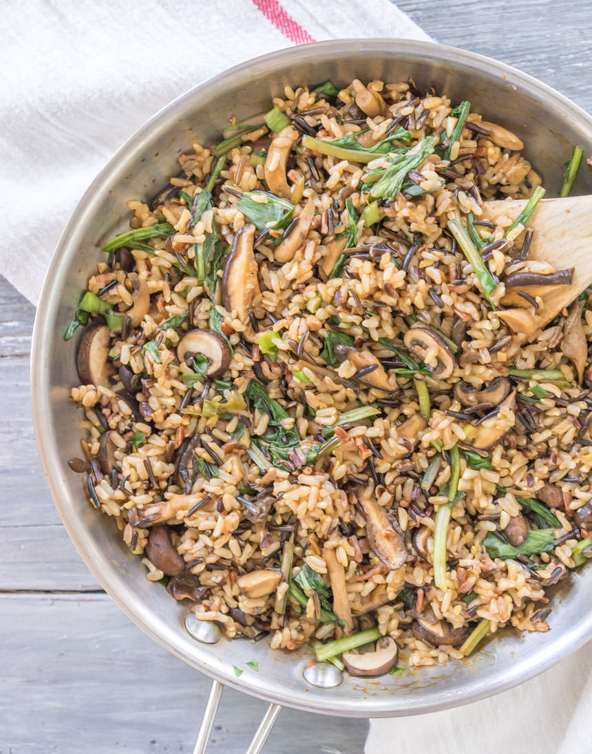 Wild Rice with Wild Mushrooms and Other Wild Things