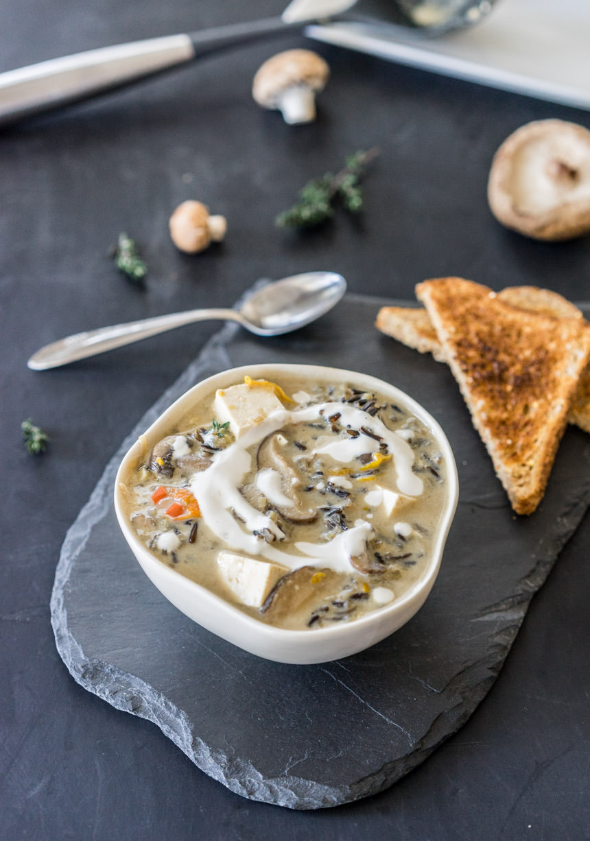 Cream of Wild Mushroom & Wild Rice Soup