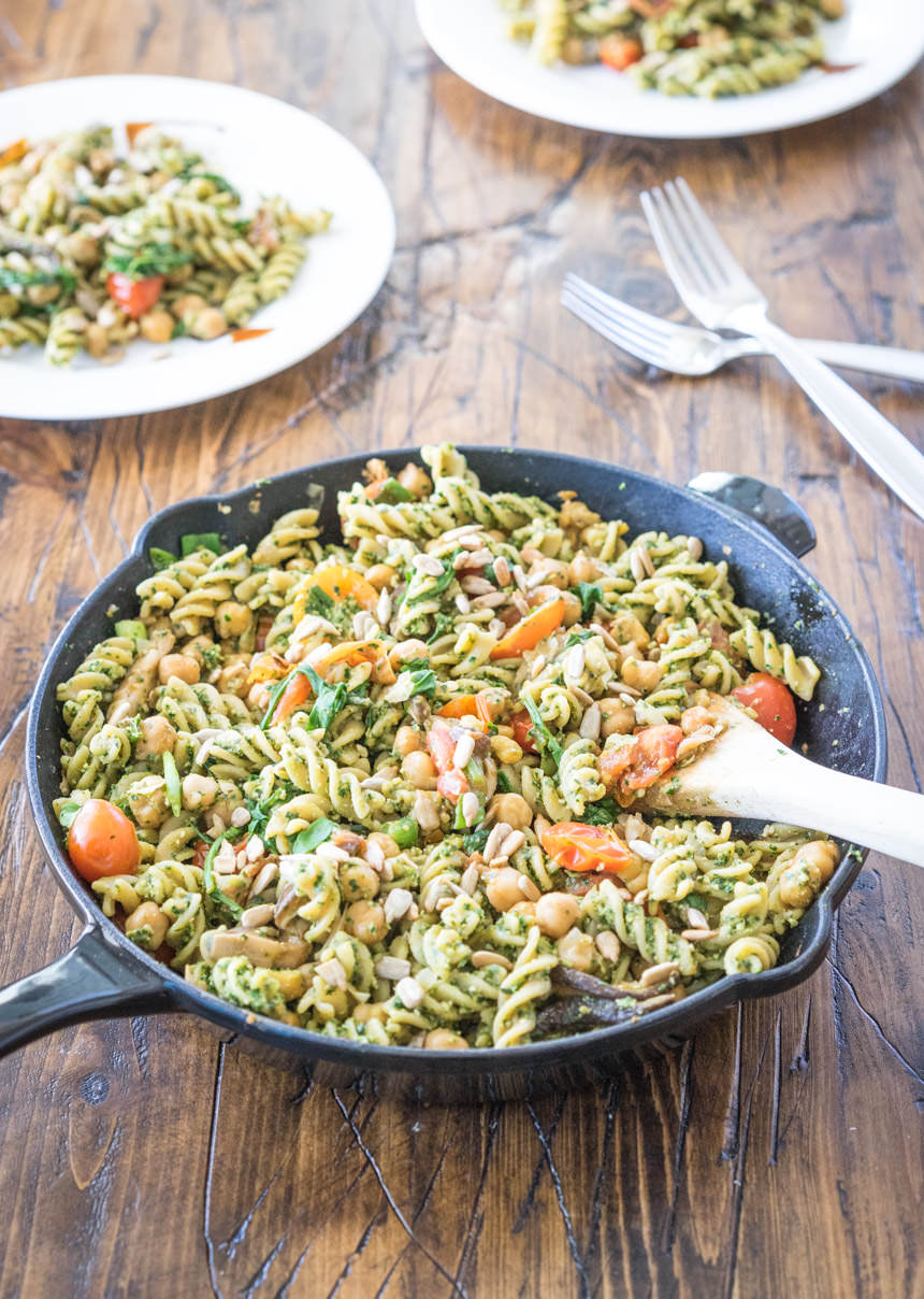 The Anti-Aging Kale Pesto Pasta Salad