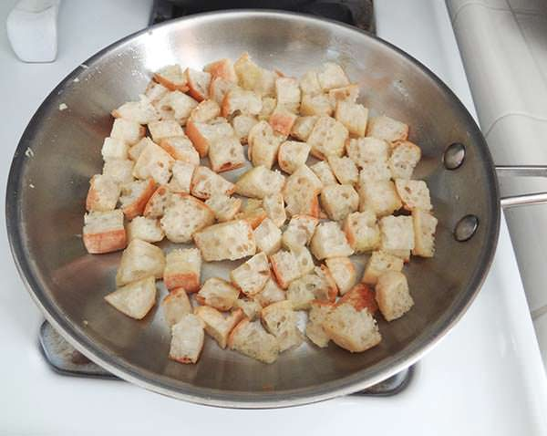 Toasting Croutons