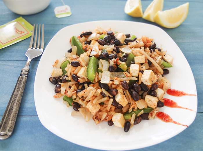 Black Bean and Tofu Hash