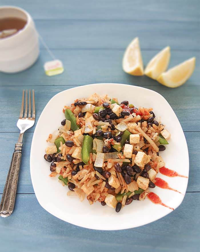 Black Bean and Tofu Hash