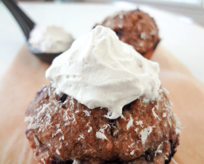 Coconut Whipped Cream Muffin