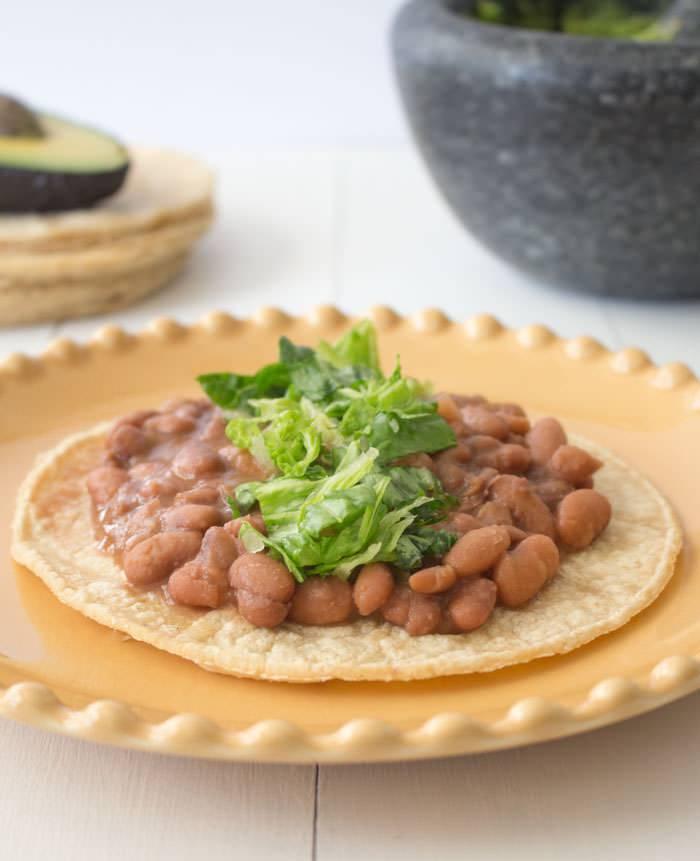 Slow Cooker Beans Tortilla