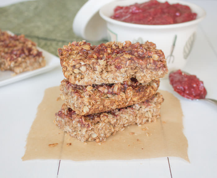 PBJ Granola Bars Stacked
