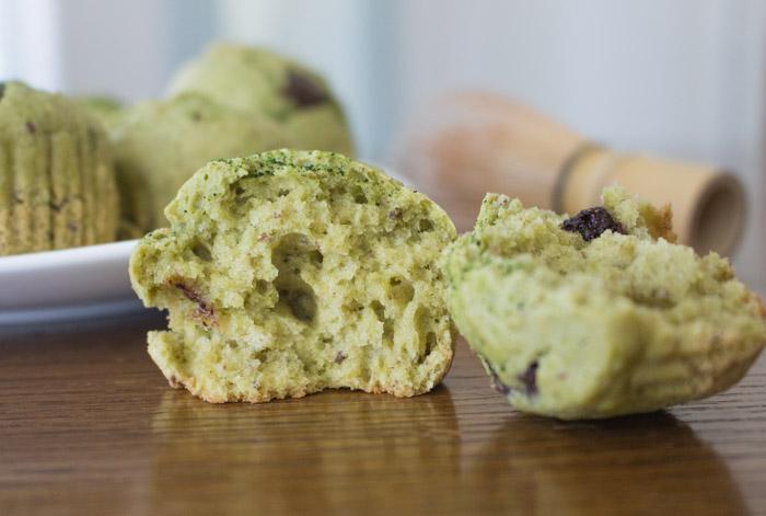 Matcha Muffins Split