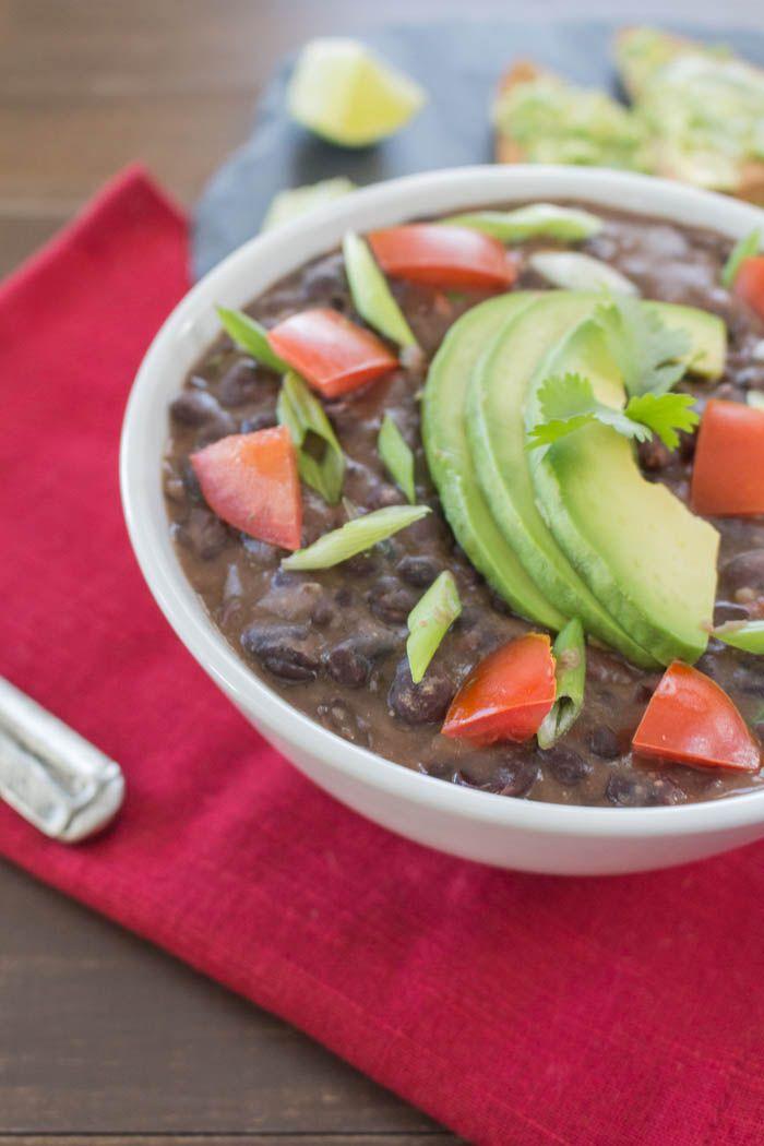 Black Bean Soup Half