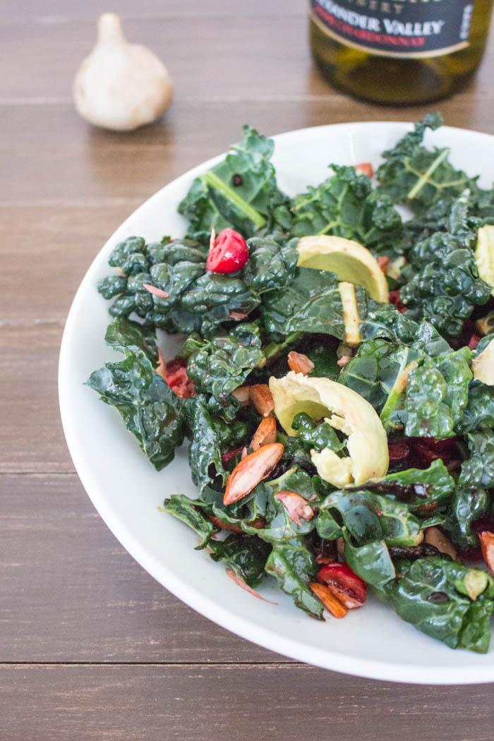 Black Garlic Kale Salad