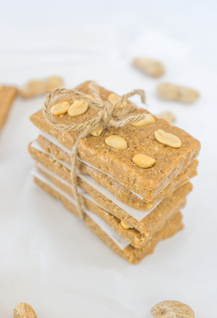 Peanut Butter Bars Tied