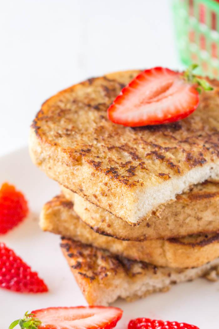 Vegan French Toast Close