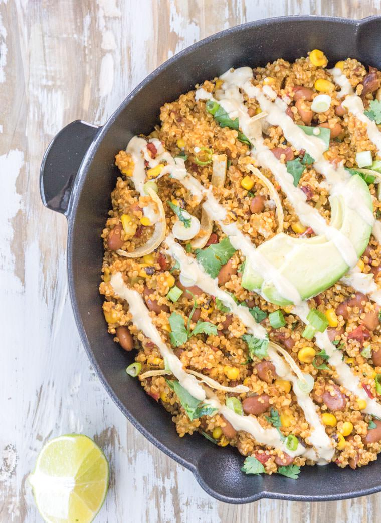 Quinoa-Queso-Skillet