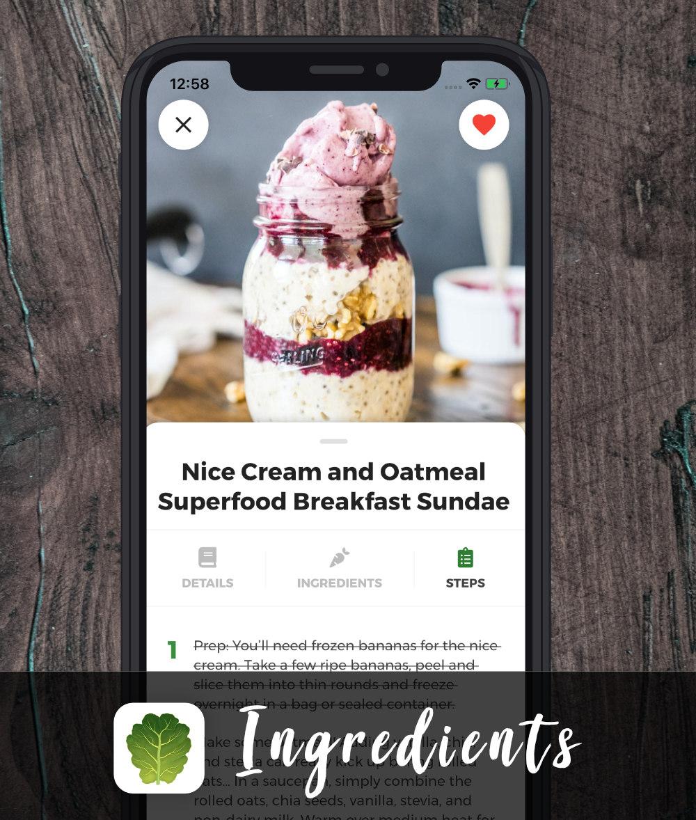 vegan recipe app